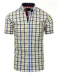 Moderní Slim Fit košile kostičkovaná pánská