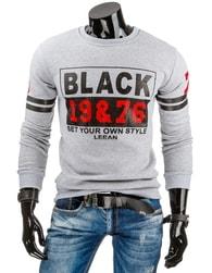 Pánská šedá mikina BLACK 19&76