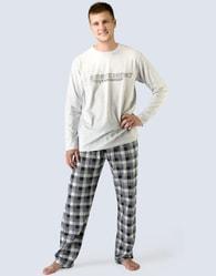 Moderní příjemné šedé pánské pyžamo
