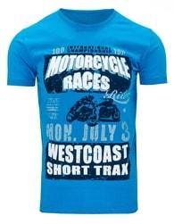 Stylové tričko nebesky modré barvy