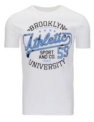 Bílé stylové triko s potiskem