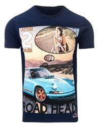 Pohodlné tričko ROAD HEAD tmavě modré