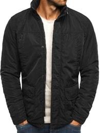 Černá moderní bunda s kapucí J. STYLE 3105 - M