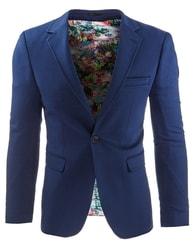 Jedinečné pánské sako modré barvy