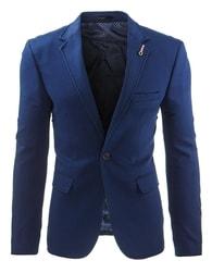 Modré stylové pánské sako