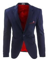 Granátově-modré pánské sako