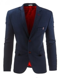 Modro-červené pánské sako