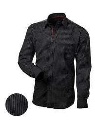 Victorio Černá košile s nášivkami V014