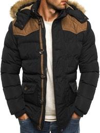 J. Style Moderní zimní bunda s kapucí a kožešinou J.STYLE 3079