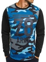 Athletic Moderní modré tričko army styl ATHLETIC 746 - M