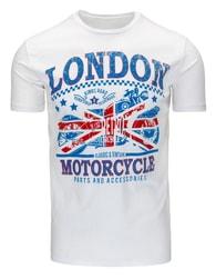 Bílé tričko s nápisem LONDON