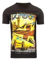 Kvalitní černé pánské tričko LONDON