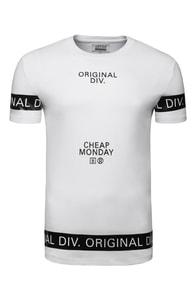 Bílé tričko s černým nápisem 3002