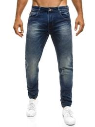 TMK Kvalitní stylové pánské modré džíny TMK 96202
