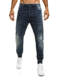 XZX-Star Stylové pánské baggy modré džíny XZX-STAR 51611