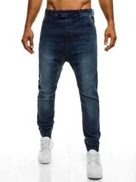 TMK Jedinečné moderní tmavě modré baggy kalhoty TMK 96235