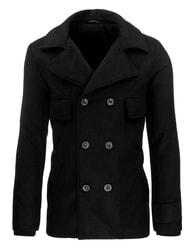 Moderní černý pánský kabát