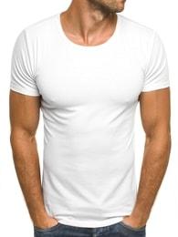 J. Style Klasické bílé pánské tričko J. STYLE 712006 - S