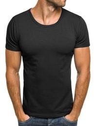 J. Style Moderní černé pánské tričko J. STYLE 712006 - XL