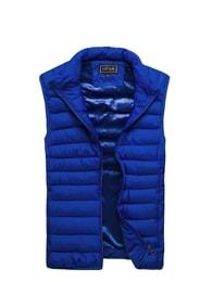 Fantastická moderní modrá vesta J. STYLE 3116 - L
