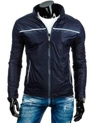 Moderní pohodlná tmavě modrá pánská bunda