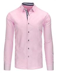 Elegantní moderní pánská růžová košile