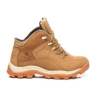 NEW AGE Moderní béžové nepromokavé pánské boty