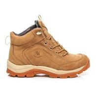 NEW AGE Moderní béžové pánské kožené boty