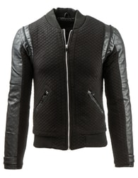 Zajímavá a velmi stylová pánská černá bunda