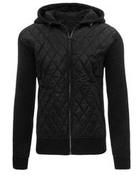 Krásná prošívaná černá pánská bunda - M