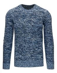 Modrý stylový pánský svetr