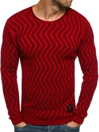 Black Rock Krásný moderní červený pánský svetr BLACK ROCK 18030
