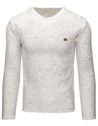 Elegantní bílý pánský svetr