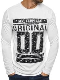 Street Star Pohodlné bílé tričko s potiskem STREET STAR MX120 - M