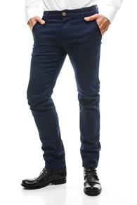 Společenské tmavě modré kalhoty JEEL 6133