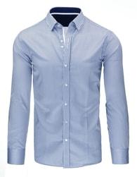 Krásná společenská pánská modrá košile