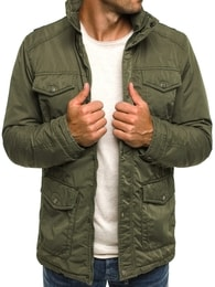 J. Style Fantastická khaki pánská bunda J. STYLE 3147 J.STYLE 3147