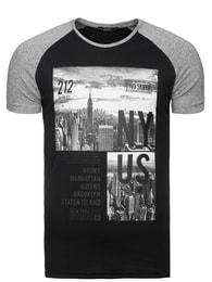 Pánské módní černé triko MADMEXT 1326