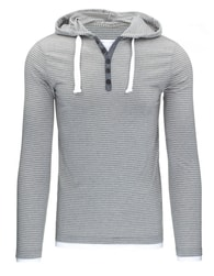 Moderní pánské šedé tričko s kapucí