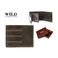 Hnědá designová pánská peněženka WILD