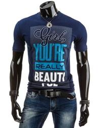 Granátové tričko s nápisem