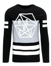 Stylové moderní tričko černé REBEL