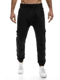 Otantik Sportovní pánské moderní kalhoty černé OTANTIK 818