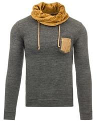 Moderní šedý pánský svetr