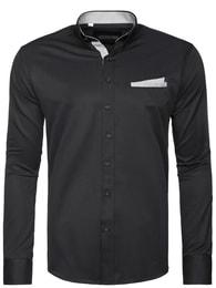 Černá moderní košile 2179