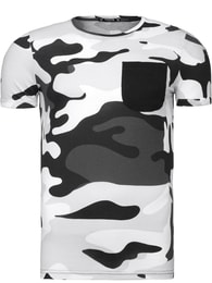 Athletic Maskáčové tričko s kapsou šedé Athletic 1026