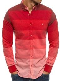 Madmext Netradiční pánská červená košile MADMEXT 0662