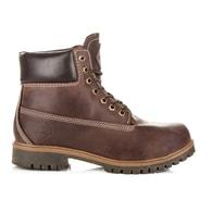 ROADSIGN AUSTRALIA Hnědé kožené pohodlné zimní boty