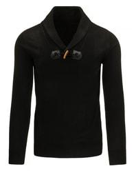 Černý pohodlný pánský svetr