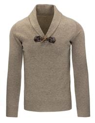 Béžový stylový pánský svetr